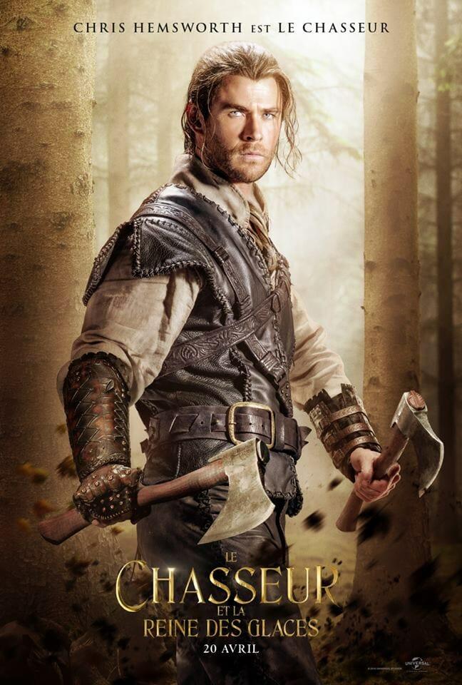 Le chasseur et la reine des neiges Chris Hemsworth